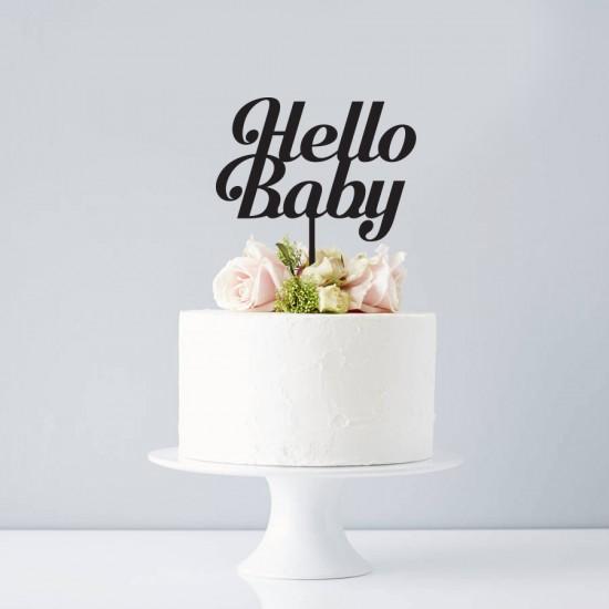 Cake Topper Hello Baby Topper Tort